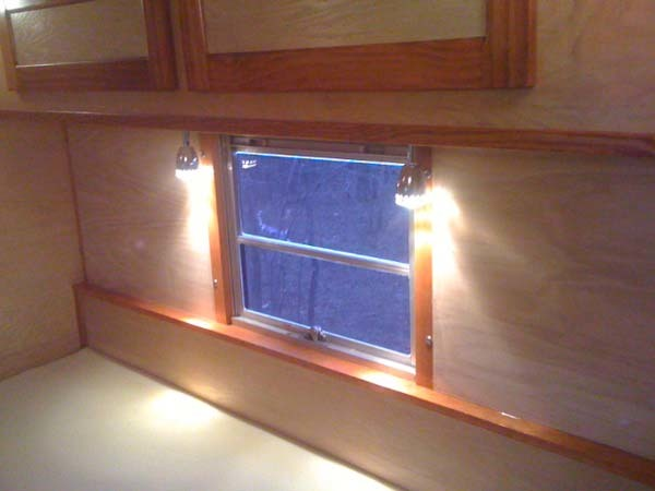 Once the wood staining was finished, the RV/bus truly started to come together.