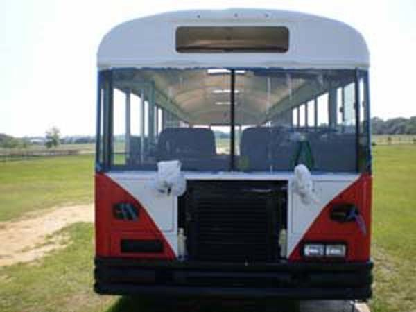It took a lot of prep and body work to get the bus into shape for painting.