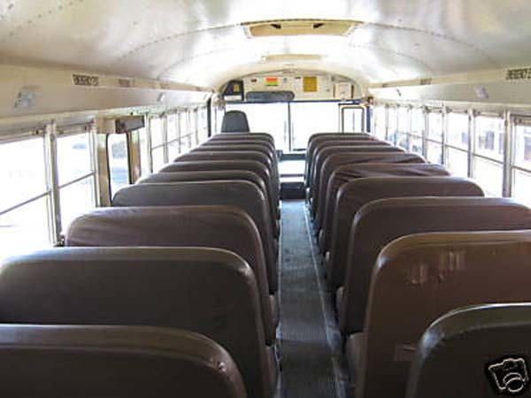 The first step was getting rid of the seats, which was a long and painful process.