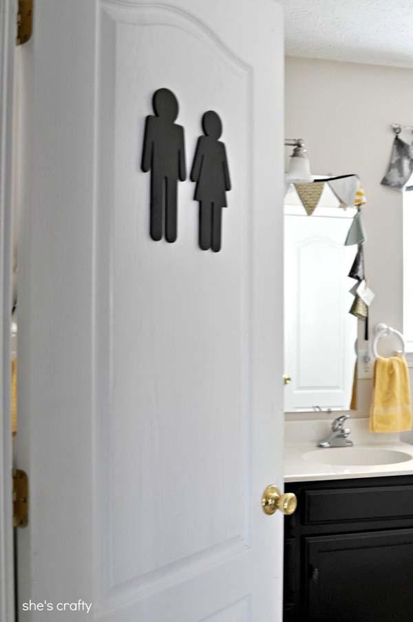 23.)在您的浴室上贴一个标牌,让客人知道它在哪里。