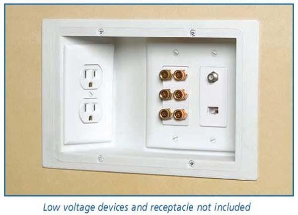 15.)使用嵌入式插座,这样您就可以将家具靠在墙上。