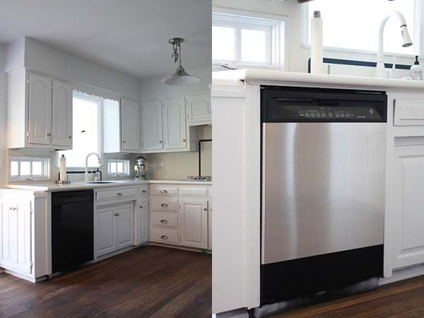 13.) Use stainless steel contact paper to make your appliances look more expensive.