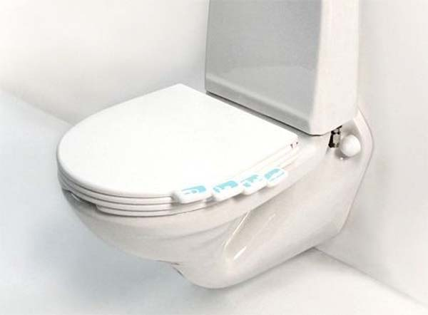 11.) Buy a toilet seat where everyone can have their own tab.