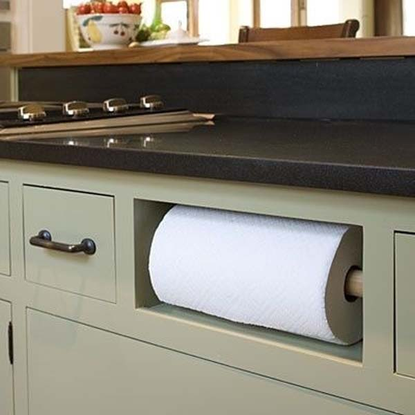 5.) Make the space your fake drawers take up functional.