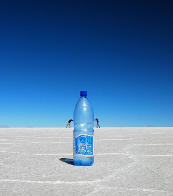 4.) When you go to a big desert, you need a big bottle of water.
