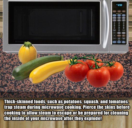 18.)如何在微波炉中烹饪某些食物而不会爆炸。