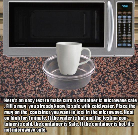11.)弄清楚您的容器对微波是否安全。