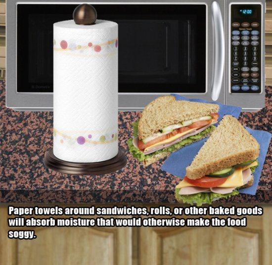 12.)保持面包又好又湿。