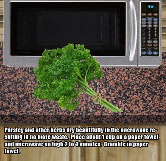 7.)用微波炉烘干草药。