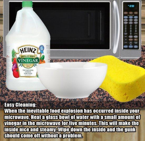 4.)如果您需要清洁令人讨厌的微波炉。