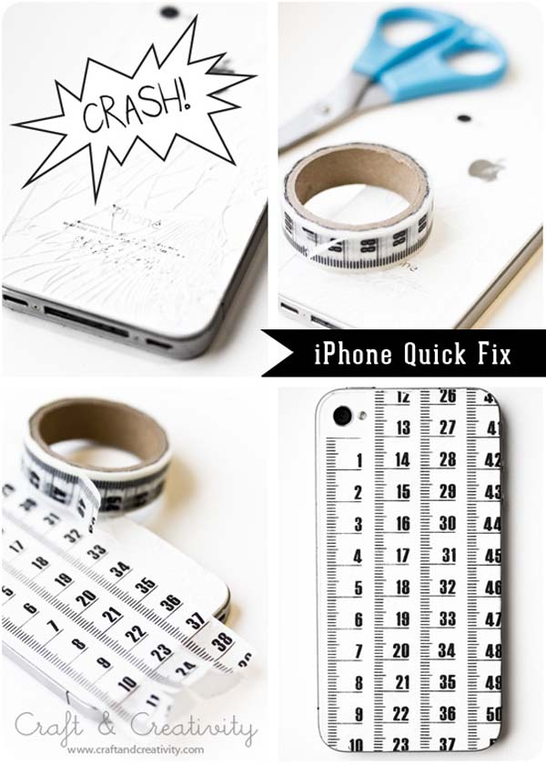 18.) You can even use the tape to give your iPhone personality (or cover up cracks/scratches).