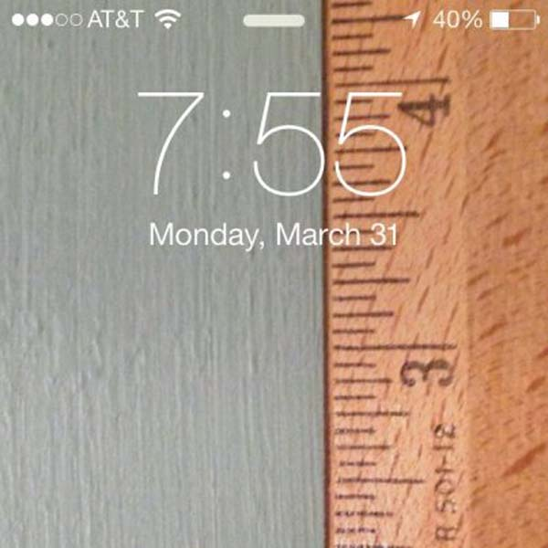 10.) Take a photo of a ruler (at the proper size) and use it as a ruler.