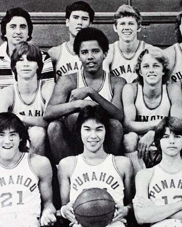 43.)青少年时期的巴拉克·奥巴马(Barack Obama)。