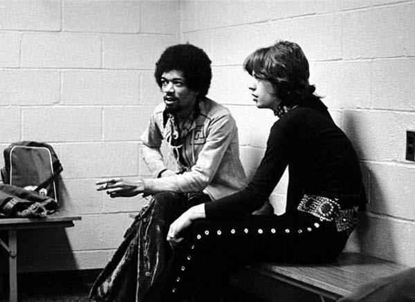 20.)吉米·亨德里克斯(Jimi Hendrix)和米克·贾格尔(Mick Jagger)(1969)。