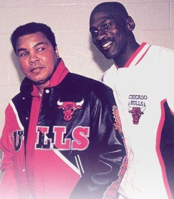 4.)穆罕默德·阿里(Muhammad Ali)和迈克尔·乔丹(Michael Jordan)(1992)。