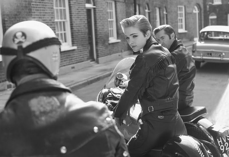 Leather clad English rocker girl.