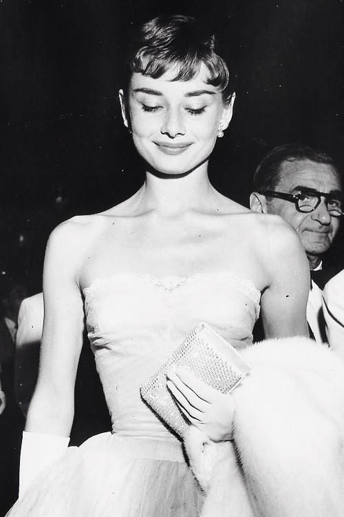 Audrey Hepburn at a premiere on September 14, 1953.