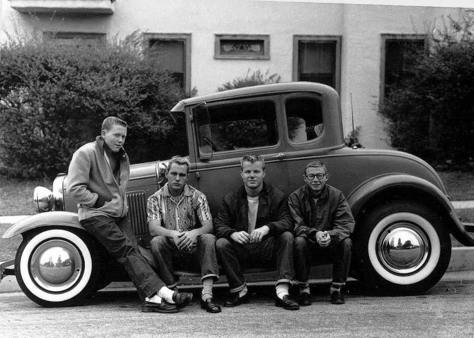 Teenagers and their first car (1950s).