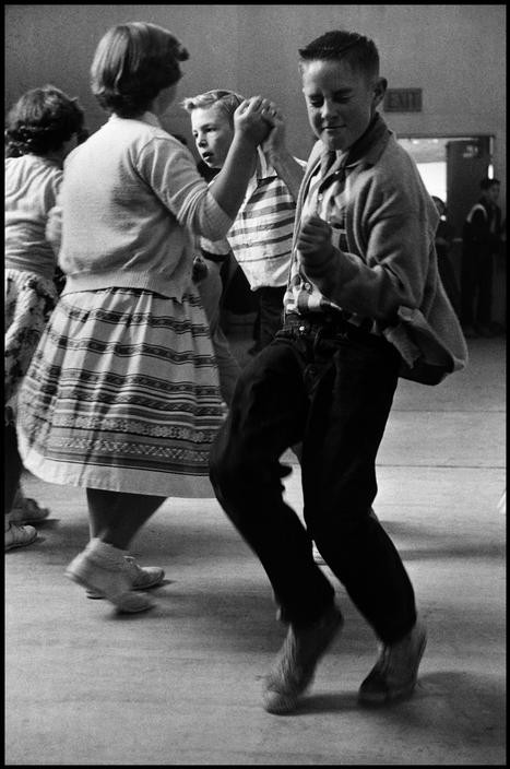 A young boy stealing the show, back when middle school kids knew how to dance (1950).