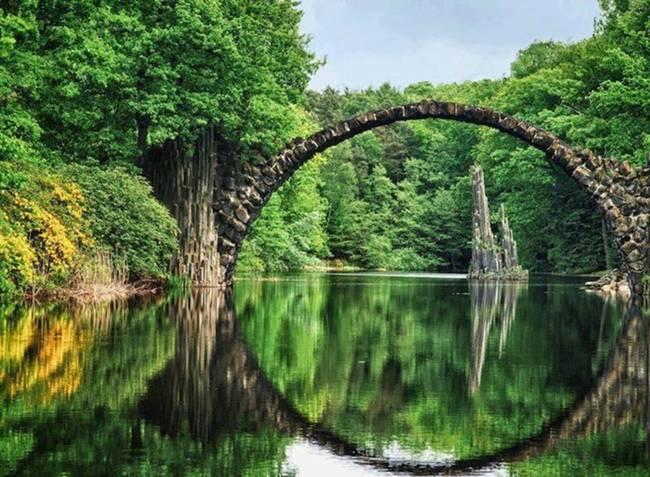 Rakotzbrücke,德国克罗姆劳