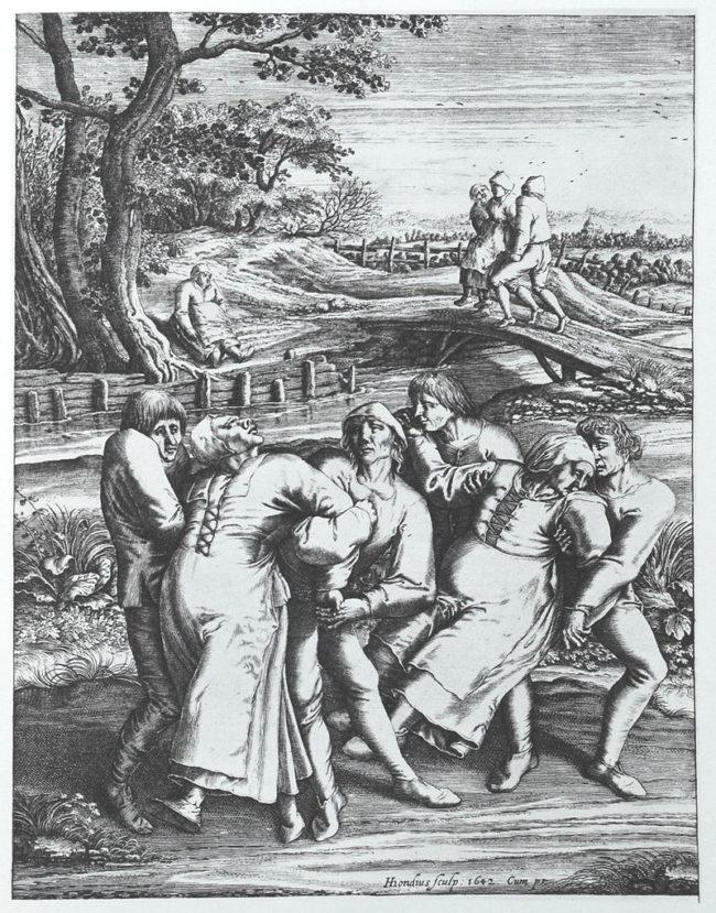 1518年の踊りの疫病