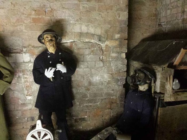 There's nothing creepier than a wax mannequin wearing a gas mask. Nothing.