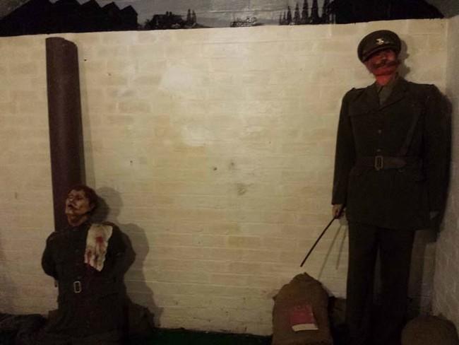 Death by firing squad.