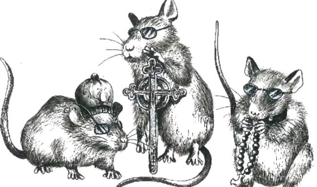 """Three Blind Mice - this rhyme actually comes from the very dark time of the rule of Mary I of England, or """"Bloody Mary."""" Bloody Mary was ruthless in her actions to prevent and expunge the practice of Protestantism in England, which she wanted to be a Catholic state. The """"three blind mice"""" were actually three noblemen who were burned at the stake for plotting again Bloody Mary."""