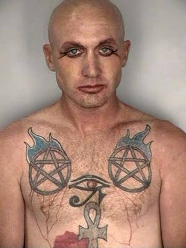 Interesting choice of tattoos...
