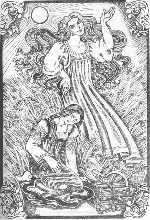 Lady Midday is a Slavic demon who floats around workers toiling in fields, asking them tough questions. If theyanswer incorrectly, she removes their head with a scythe.