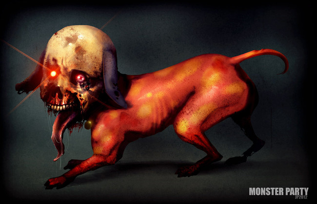 Jinmenken: These spirits are dogs with human faces that run faster than you can see them. They can talk, but usually they only speak to say how they wish to be left alone.
