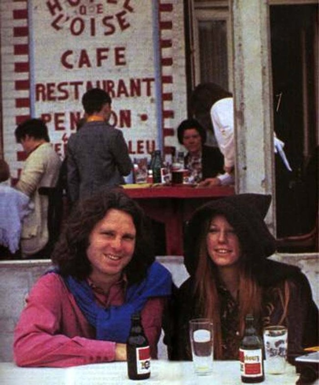 The final photo of Jim Morrison of The Doors before his death in 1971.