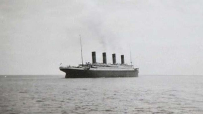 The last picture of the Titanic afloat.