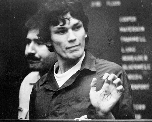 """""""We've all got the power in our hands to kill, but most people are afraid to use it. The ones who aren't afraid control life itself."""" - Richard Ramirez"""