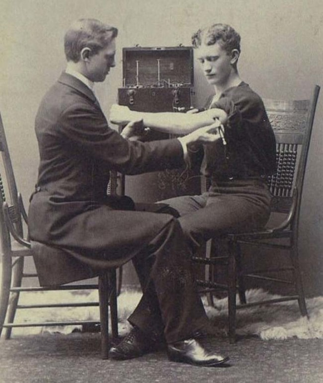 This is what a neurological exam looked like in 1884.