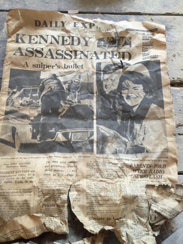 This person found a newspaper from the day after Kennedy was killed.