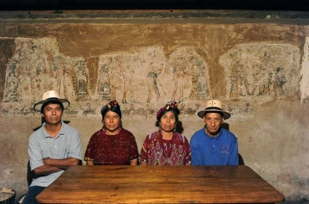 These people found ancient Mayan murals beneath their home.