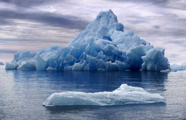 """Melting glaciers and icebergs make a distinctive fizzing noise known by geologists as """"bergy seltzer."""