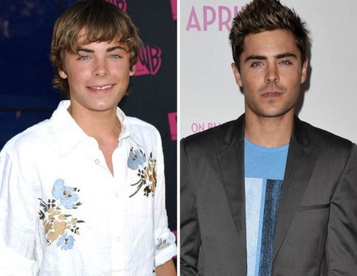 Zac Efron - 2004 and now.