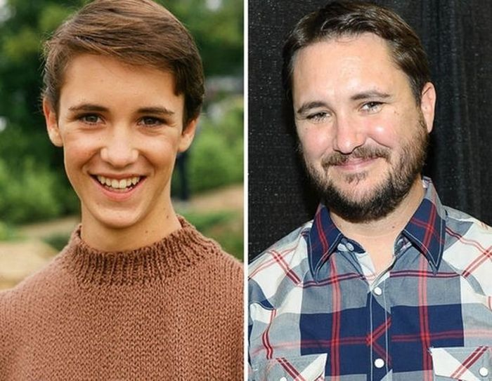 Wil Wheaton - 1987 and now.