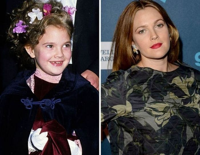 Drew Barrymore - 1982 and now.