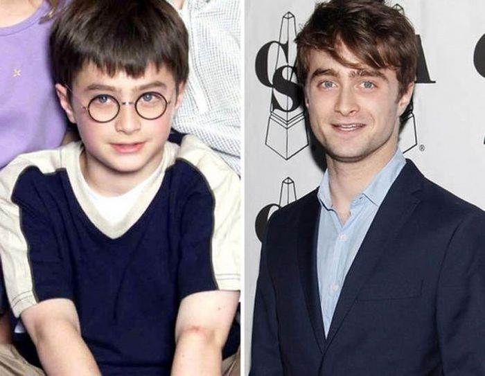 Daniel Radcliffe - 2000 and now.