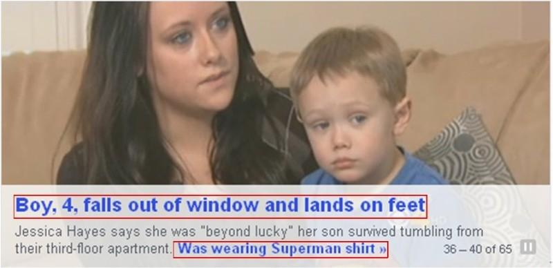 17. Well, what did they expect a baby Superman to do?