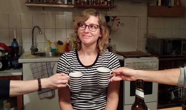 10. Hey girl, nice cups.