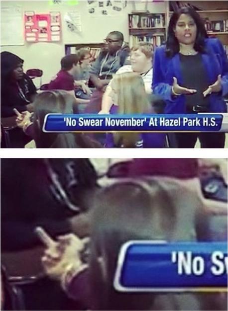 11. Gotta hand it to her, she technically wasn't swearing.