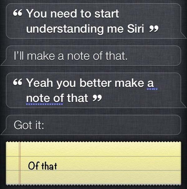 7.) Siri is giving some attitude.